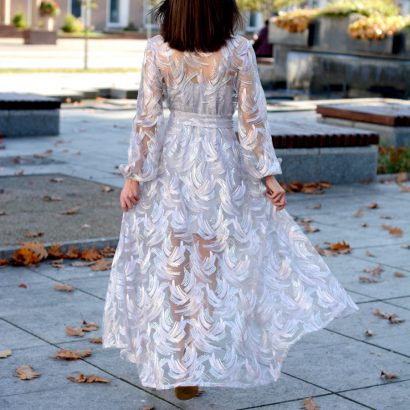 Koronkowa sukienka Tillie Maxi White Rvbbit
