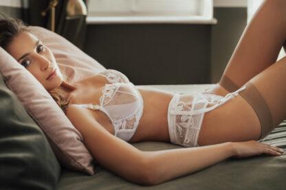 One Second White lingerie set by White Rvbbit
