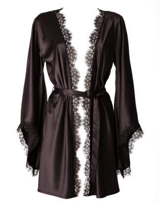 Satin Black Beauty kimono by White Rvbbit