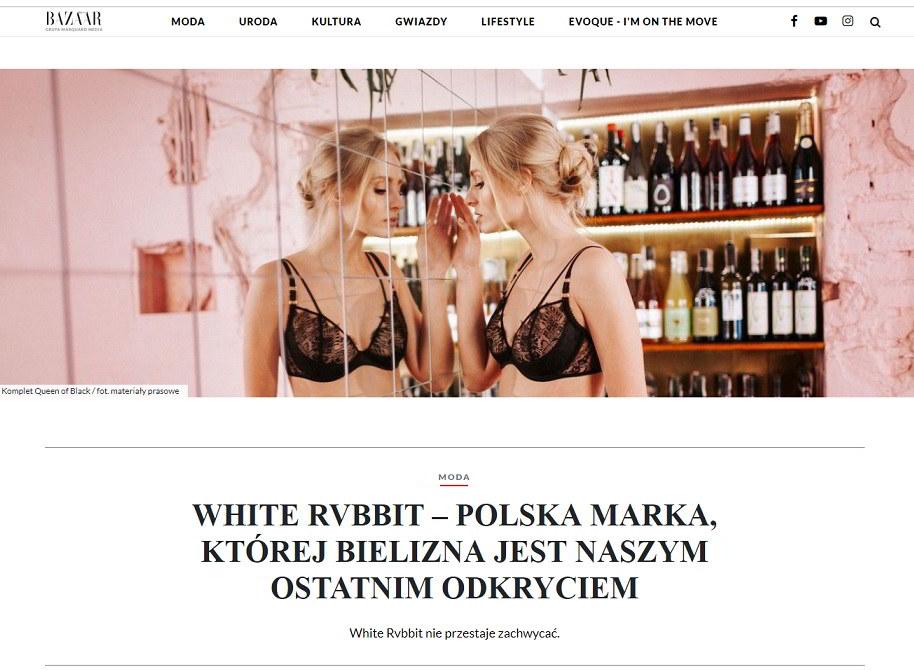 White Rvbbit w Harpers Bazaar
