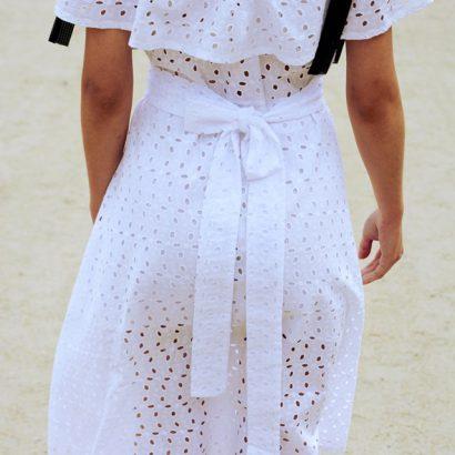 Biała sukienka Elsie
