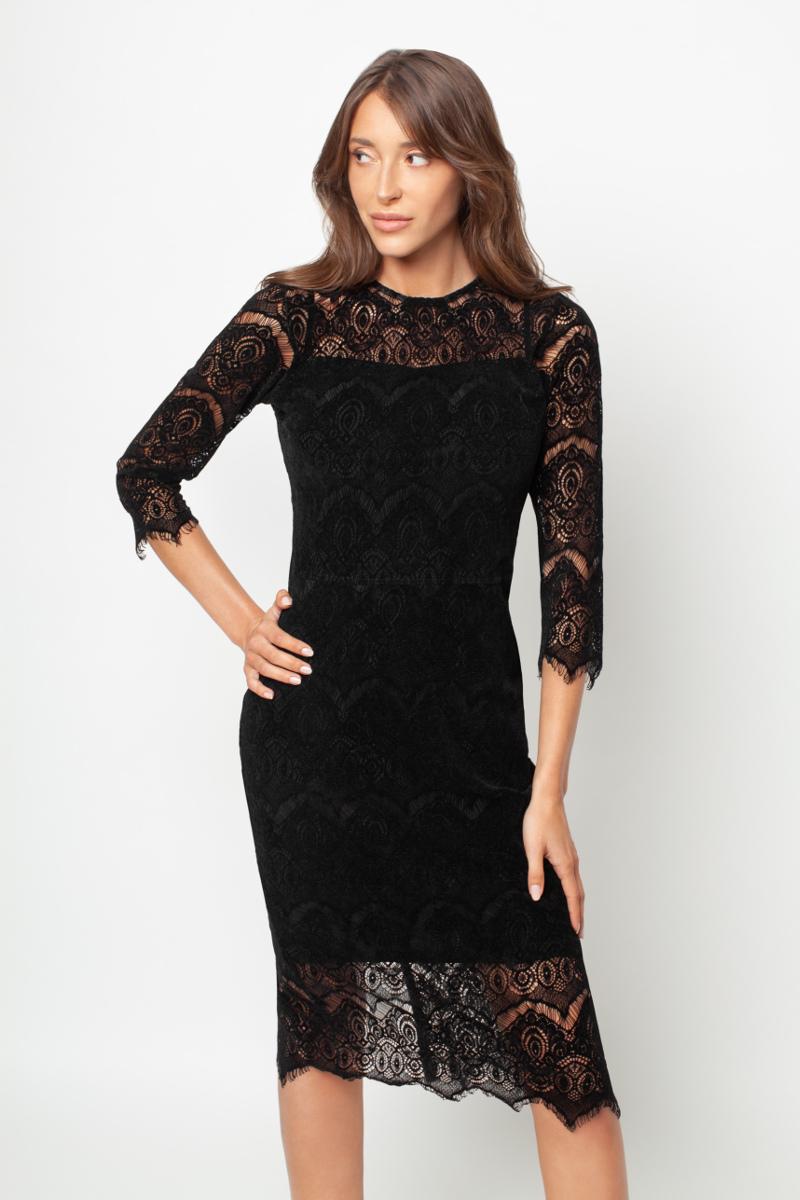 Czarna koronkowa sukienka White Rvbbit