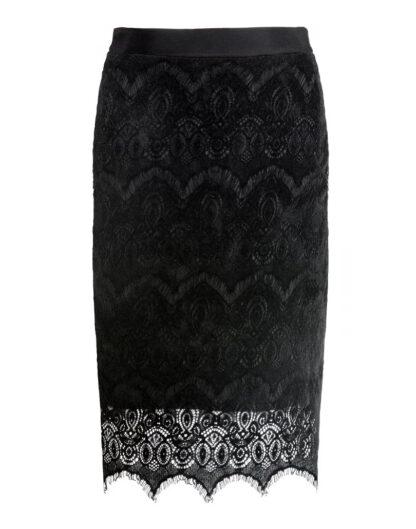 Black Velvet pencil skirt by White Rvbbit