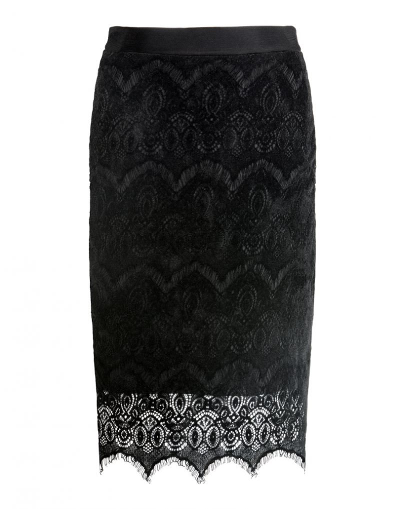 Spódnica ołówkowa Black Velvet WHITE RVBBIT