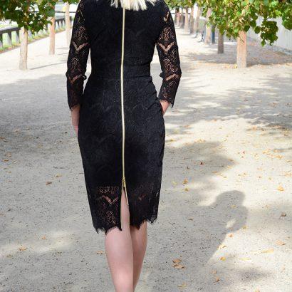 Czarna sukienka ołówkowa Black Velvet