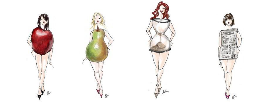 Kobiece sylwetki klepsydra jaka bielizna jakie sukienki