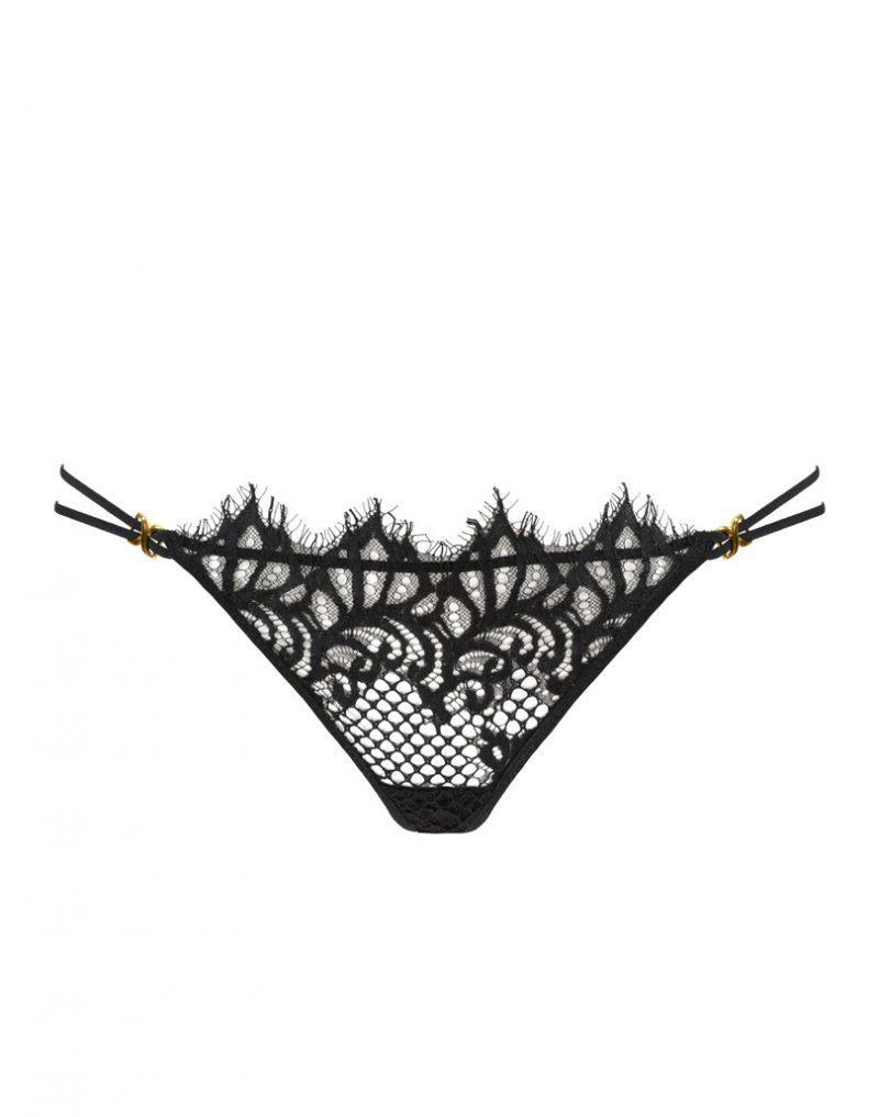 Koronkowe stringi Black Swan