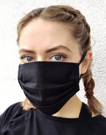 Maska czarna wielorazowa