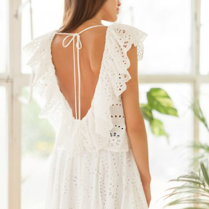 Biała bluzka biała spódnica White Rvbbit
