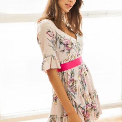 Mini sukienka z wiskozy Who's That Girl