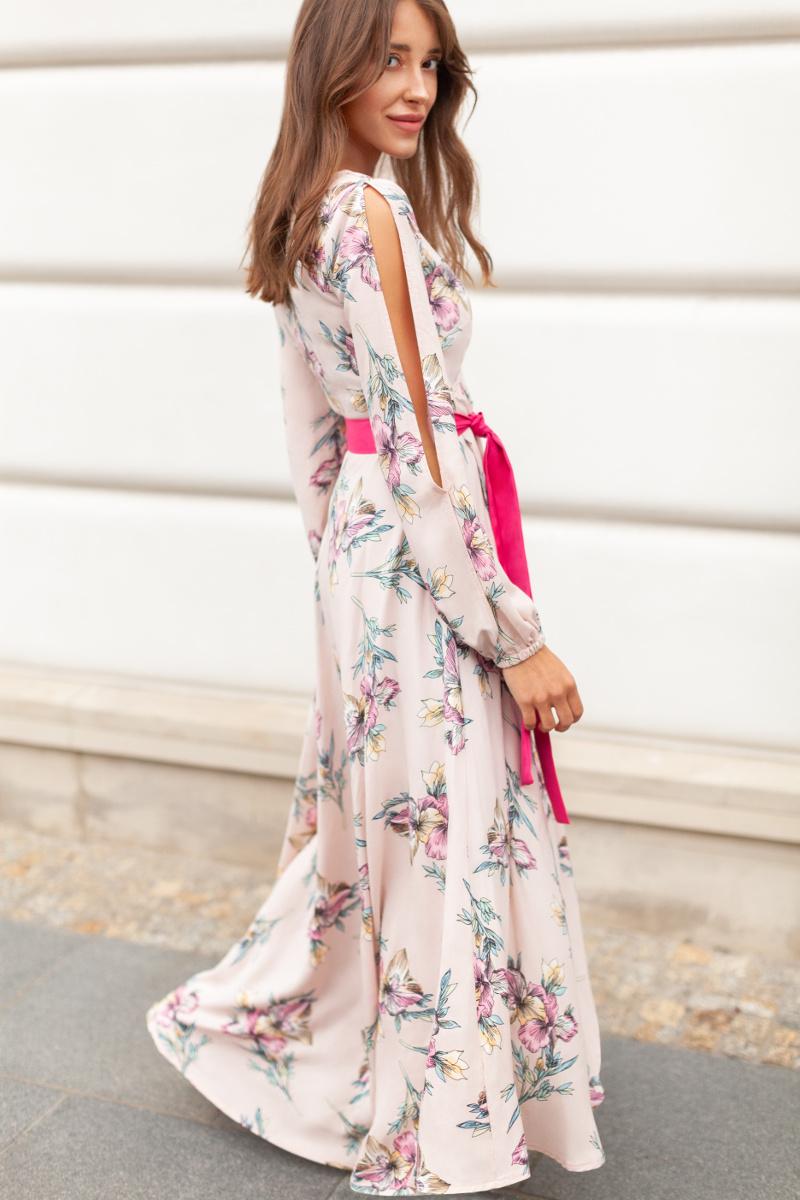 Długa sukienka w kwiaty Who's That Girll
