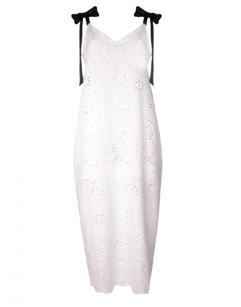 Biała sukienka maxi white rvbbit