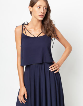 Top and midi skirt First Rose Navy Blue