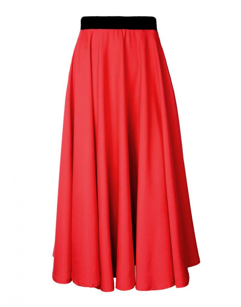 Spódnica czerwona midi First Rose Red