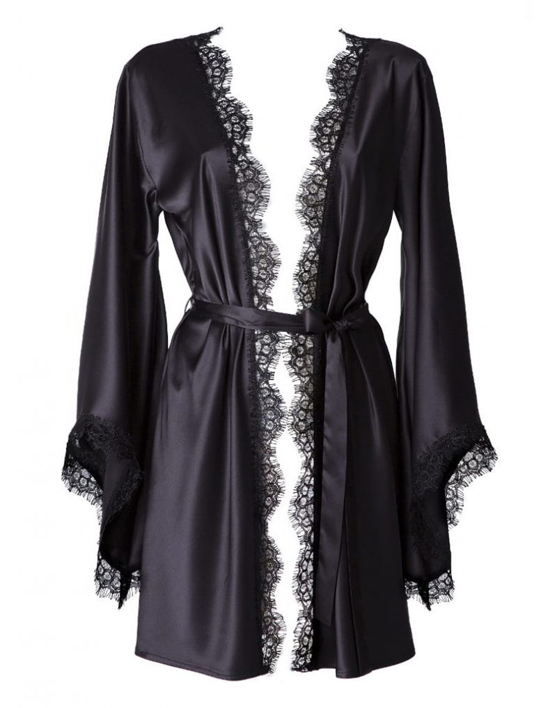 Jedwabne kimono Black Beauty White Rvbbit