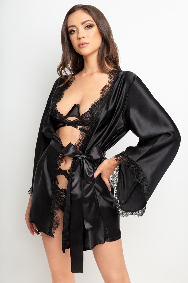 Jedwabne kimono Black Beauty