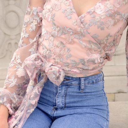 Koronkowa bluzka Lacie White Rvbbit
