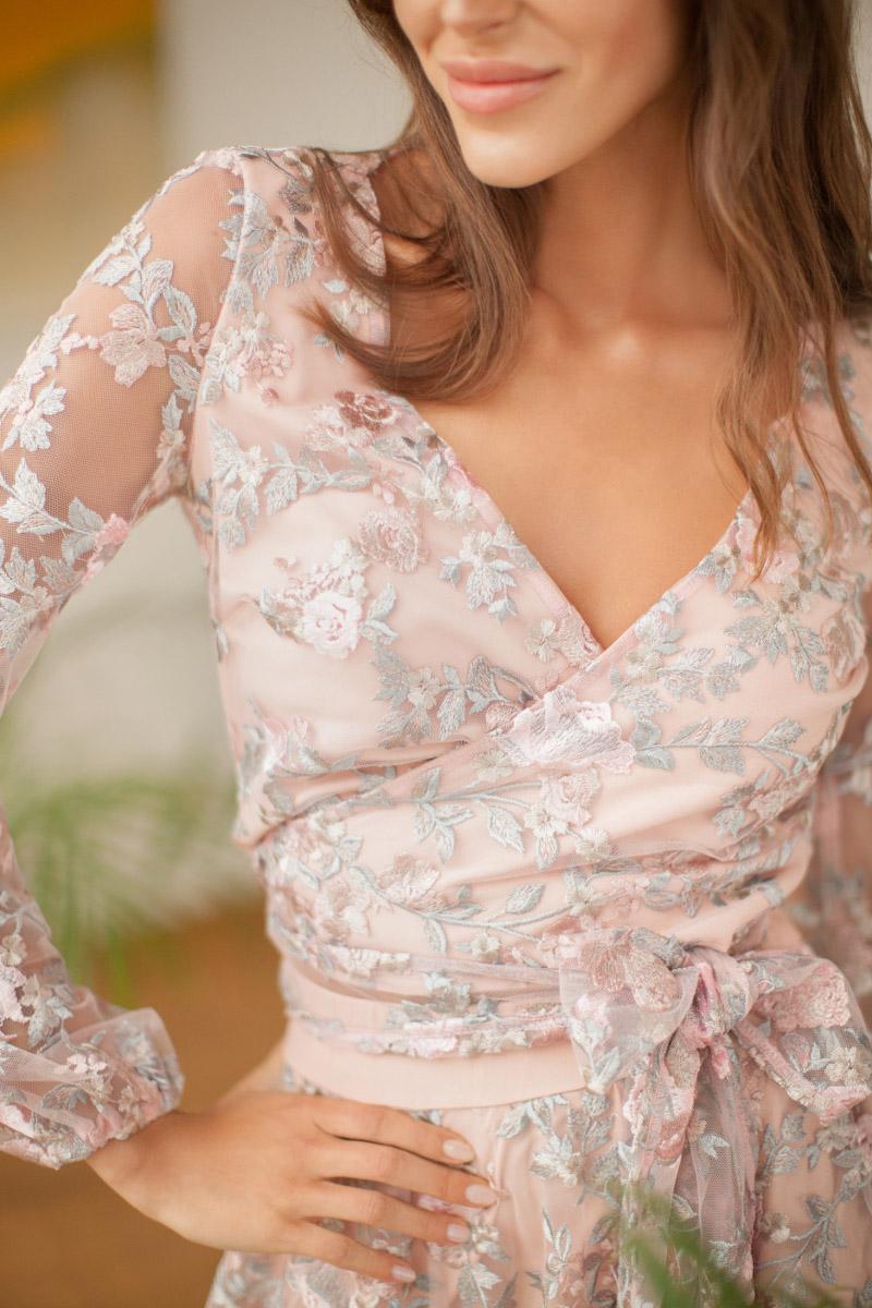 Koronkowa bluzka sukienka na wesele White Rvbbit