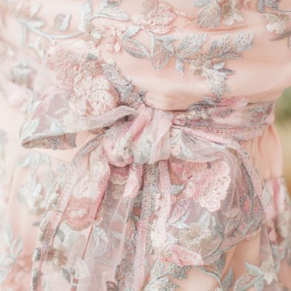 Koronkowa bluzka koronkowy komplet White Rvbbit