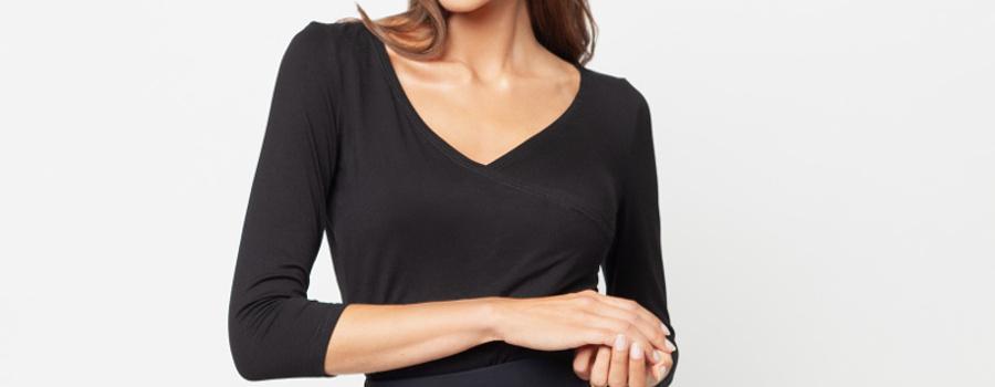 Bluzka kopertowa czarna