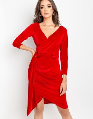 Czerwona sukienka z weluru Some Love