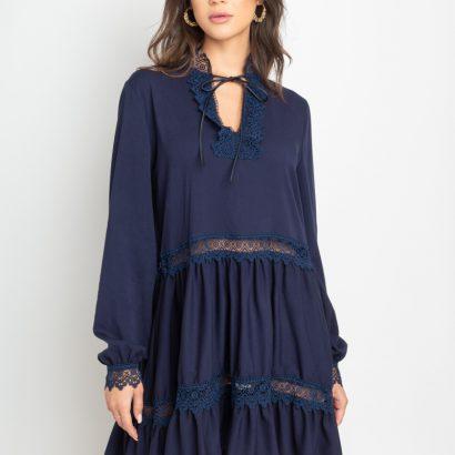 Granatowa sukienka mini z wiskozy Some Hope