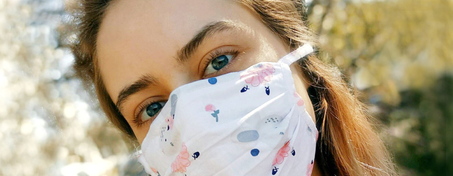 Wielorazowa maseczka ochronna z filtrem