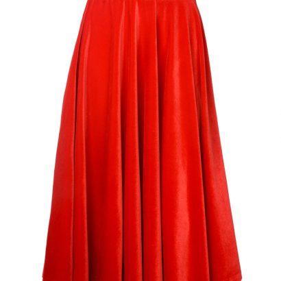 Czerwona spódnica midi z weluru Some Love