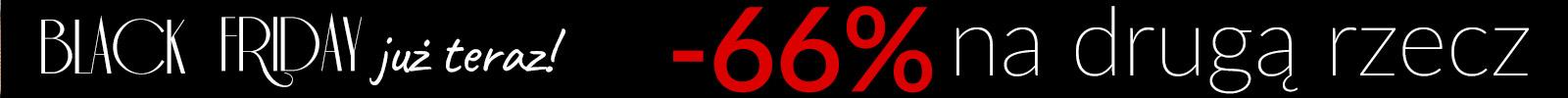 Black Friday -66% na drugą rzecz!