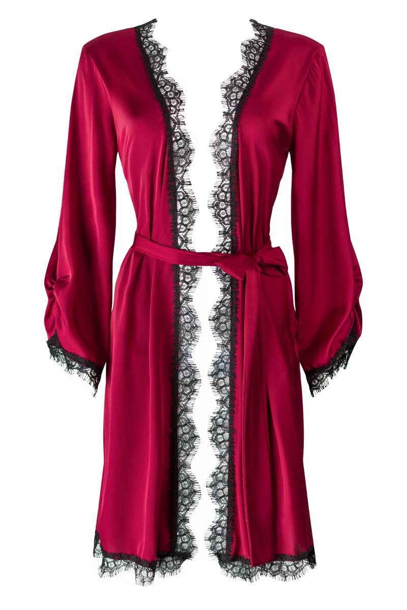 Bordowe kimono Self Love