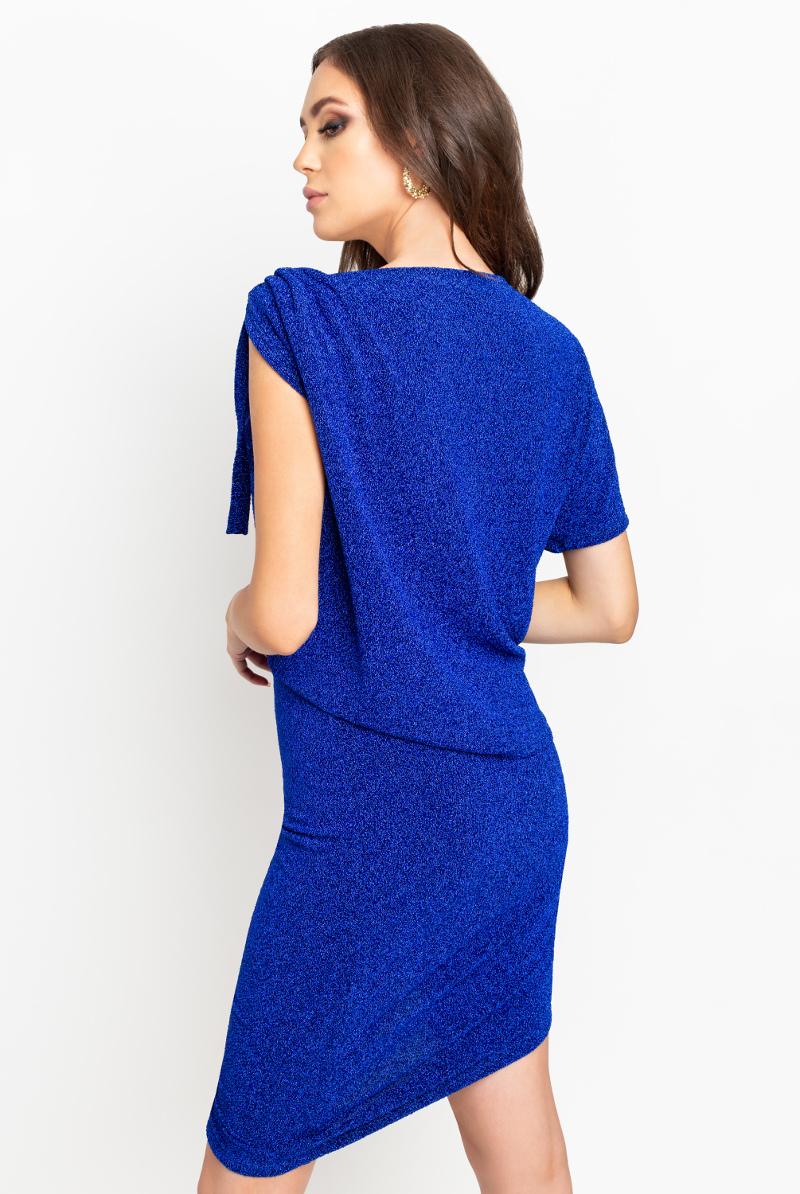 Niebieski brokatowy komplet spódnica i bluzka Some Magic