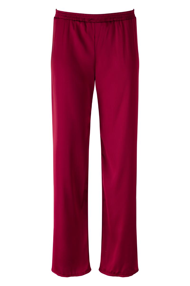 Bordowe spodnie Self-Love