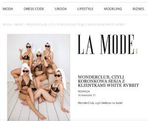 Koronkowa bielizna White Rvbbit artykuł w La Mode Info