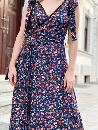 Sukienka kopertowa Euforia Blue