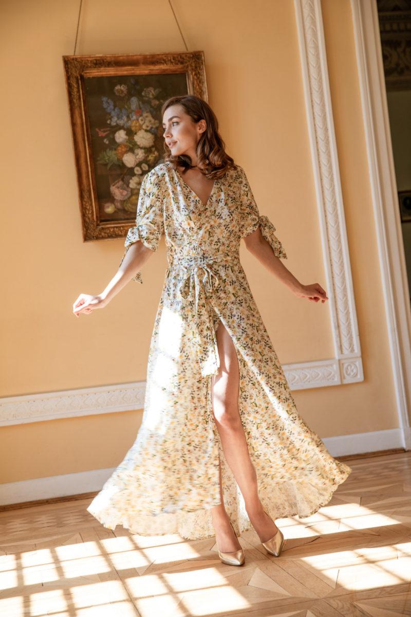 Sukienka kopertowa Yellow Jasmine