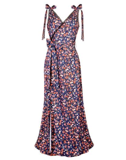 Euforia Blue wrap dress