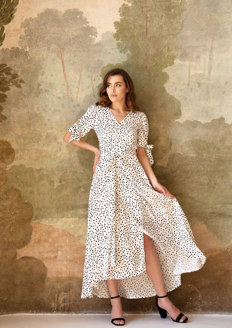 Sukienka kopertowa White Peony