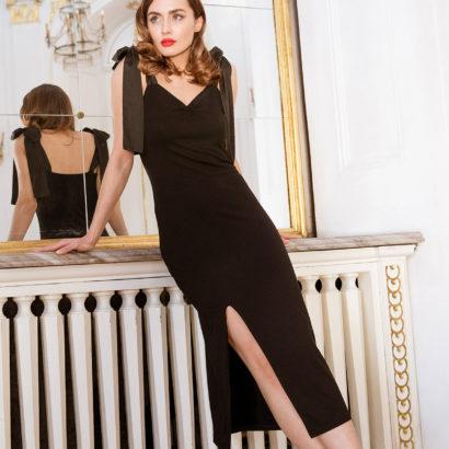 Czarna ołówkowa sukienka Black Shadow